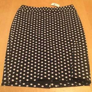 Polka dot Loft skirt
